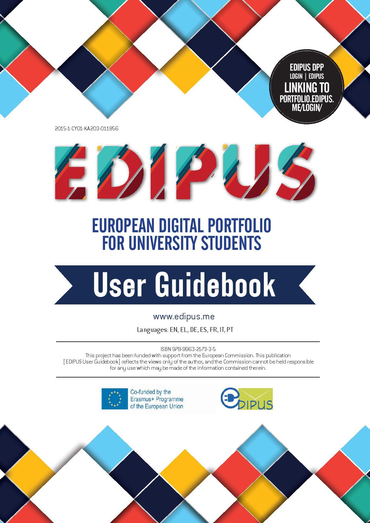 european digital portfolio for university students  it is