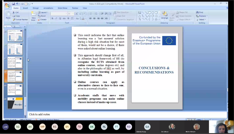 Conclusions and Recommendation Needs Analysis Report in Albania