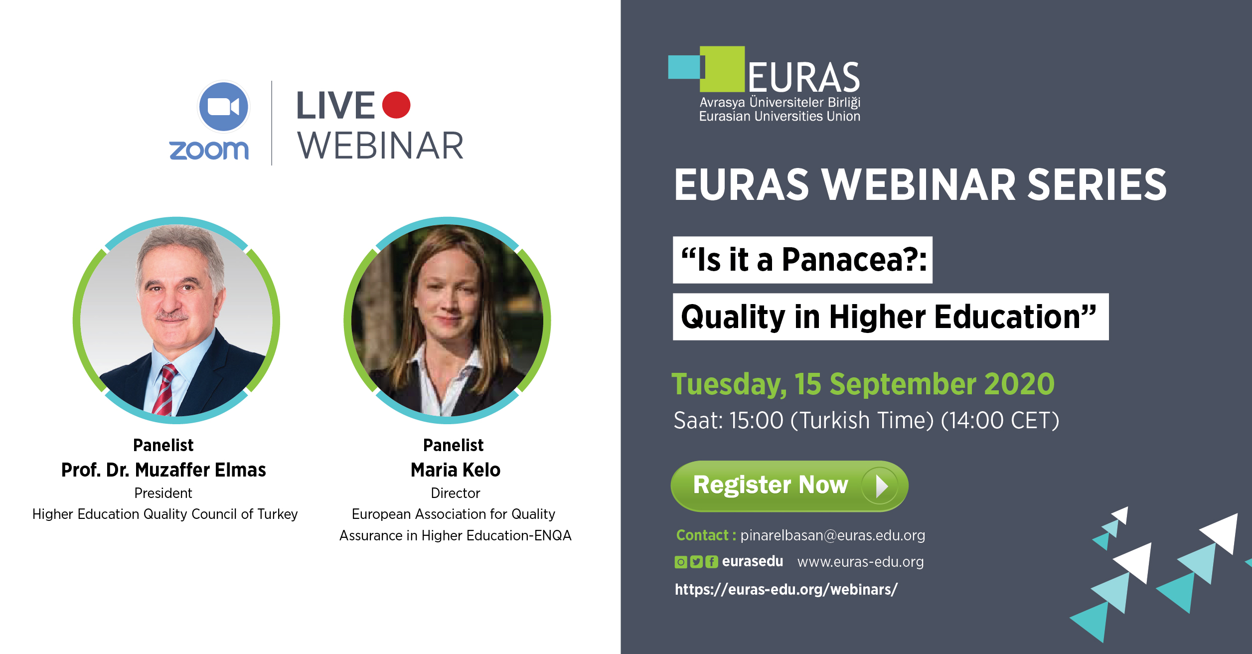 Euras Webinar Quality in Higher Education 2020 -02