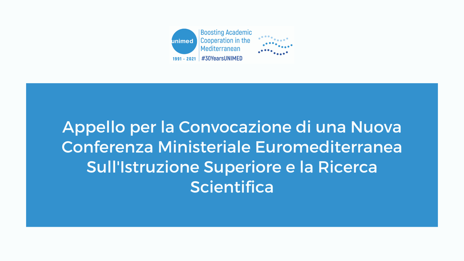 Call for the Convening of a New Euro-Mediterranean Ministerial Conference on Higher Education and Scientific Research (2)